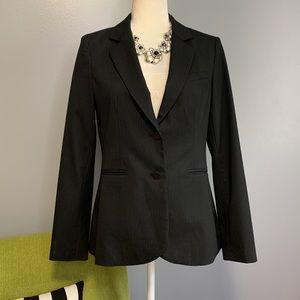 Bar III Grey Pinstripe Tailored Blazer Jacket